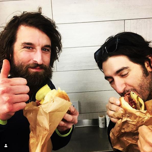 Gouldy and Garo tuck in to Salt Beef Beigel Bakery